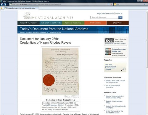 Today's Document from the National Archives, Jan. 25