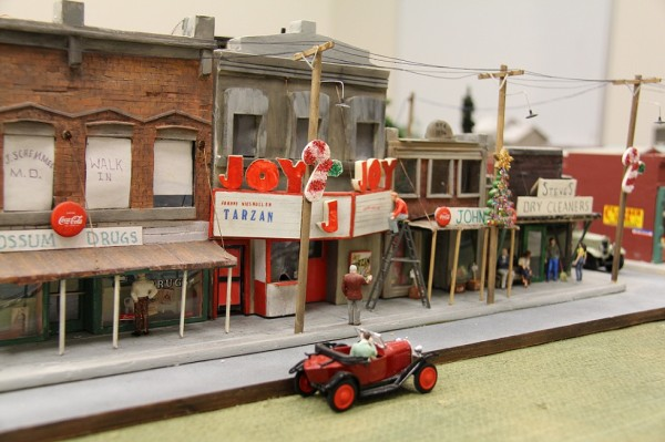 Joy Theater in town of Possum Ridge. On exhibit at the Winter Building in Jackson from December 5-22, 2011.
