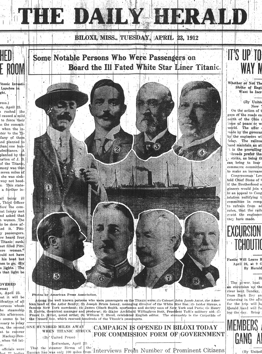 Who were some notable passengers on the Titanic?