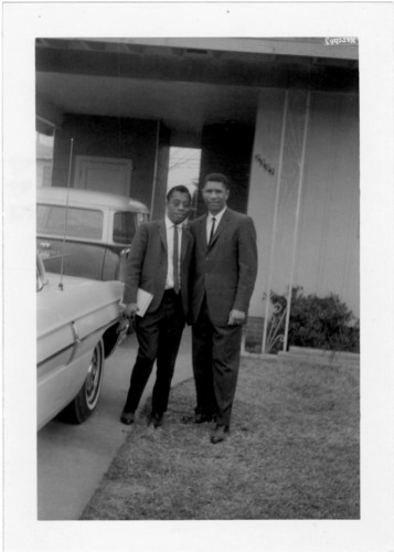 Evers and author James Baldwin.