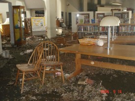 """Excerpt from the assessment report for Biloxi City Library:  """"It smells strongly of decay (not mold).""""  (Ann Frellsen)"""