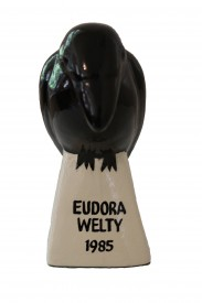 The Raven Award given to Eudora Welty in 1985, found in the upstairs boy's bedroom when the house was given to the MDAH upon her death.