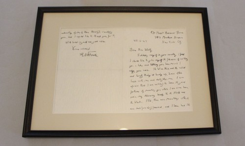 Letter from E. M. Forster, Eudora Welty House