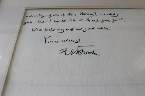 E. M. Forster's signature; Eudora Welty House